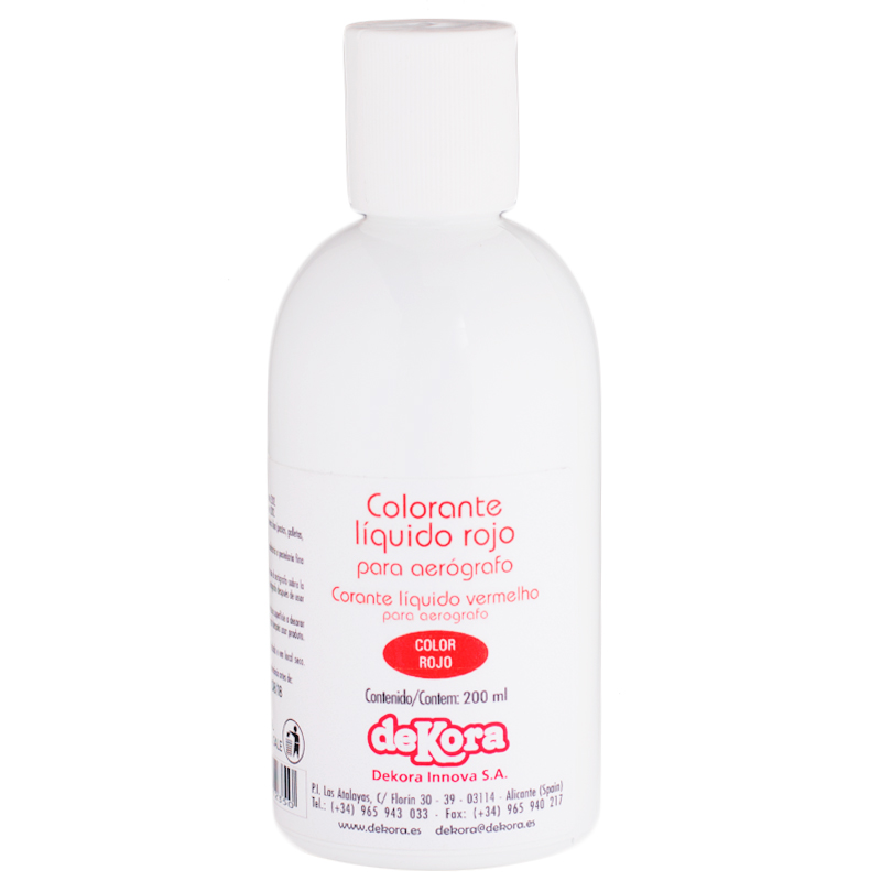 Colorante para aerógrafo color Rojo 190ml - My Karamelli