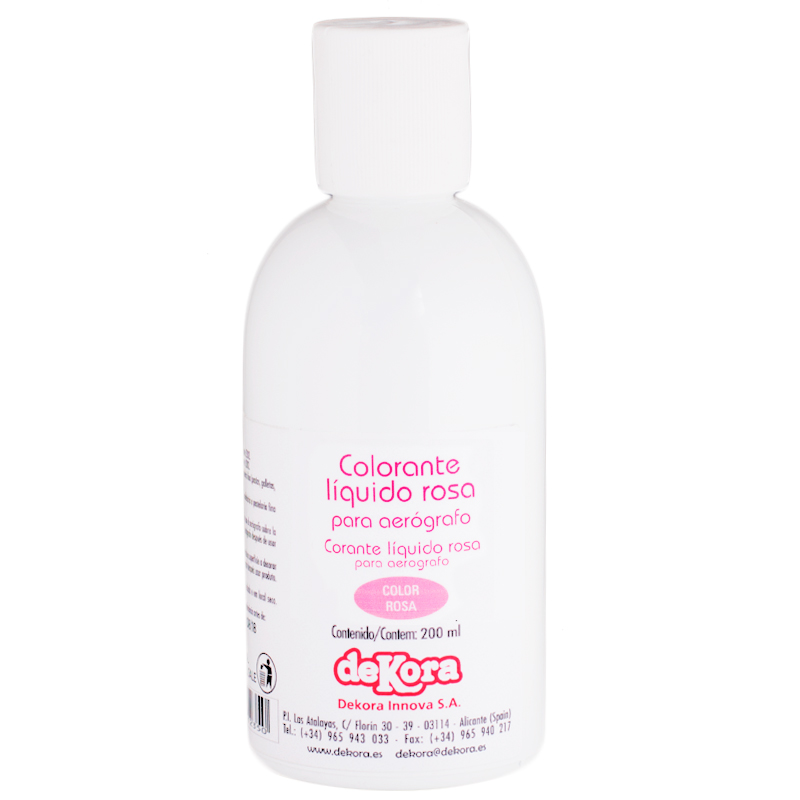 Colorante para aerógrafo color Rosa 190ml