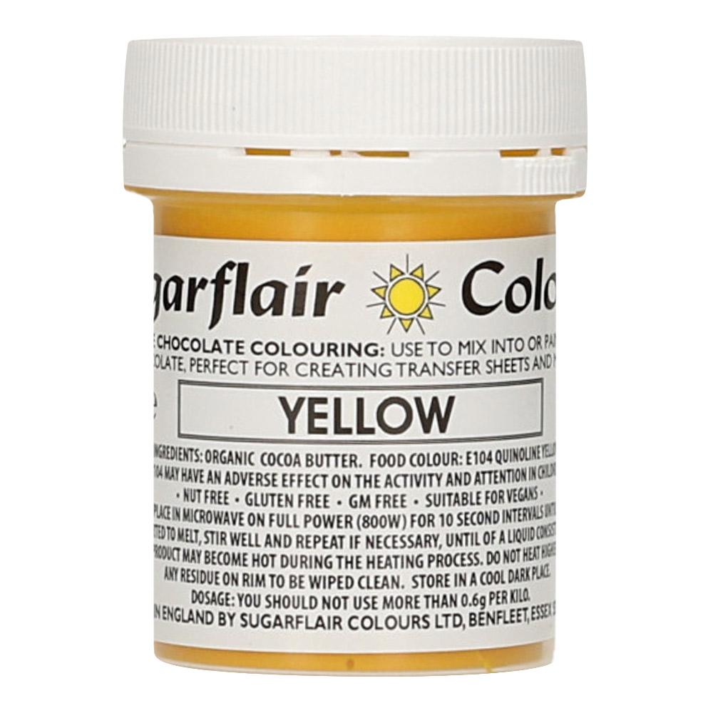 Colorante para Chocolate Amarillo 35 gr - Sugarflair