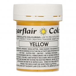 Colorante para Chocolate Amarillo 35 gr - Sugarflair