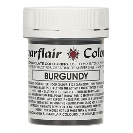 Colorante para Chocolate Borgoña 35 gr - Sugarflair