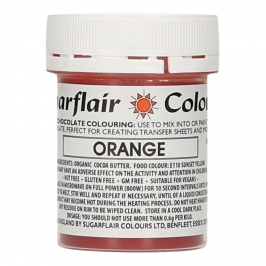 Colorante para Chocolate Naranja 35 gr - Sugarflair