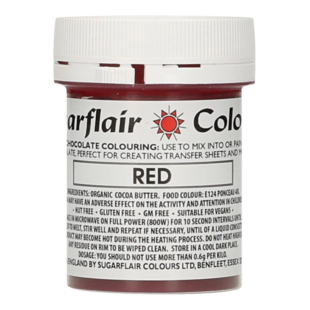 Colorante para Chocolate Rojo 35 gr - Sugarflair