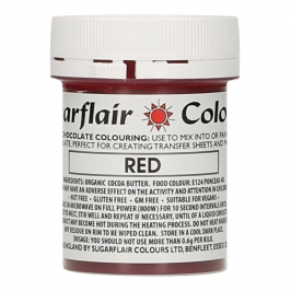 Colorante para Chocolate Rojo 35 gr - Sugarflair