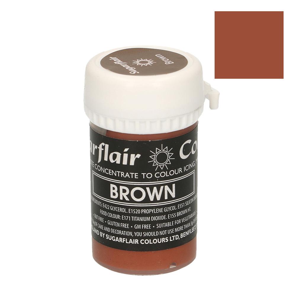 Colorante Sugarflair color marrón pastel