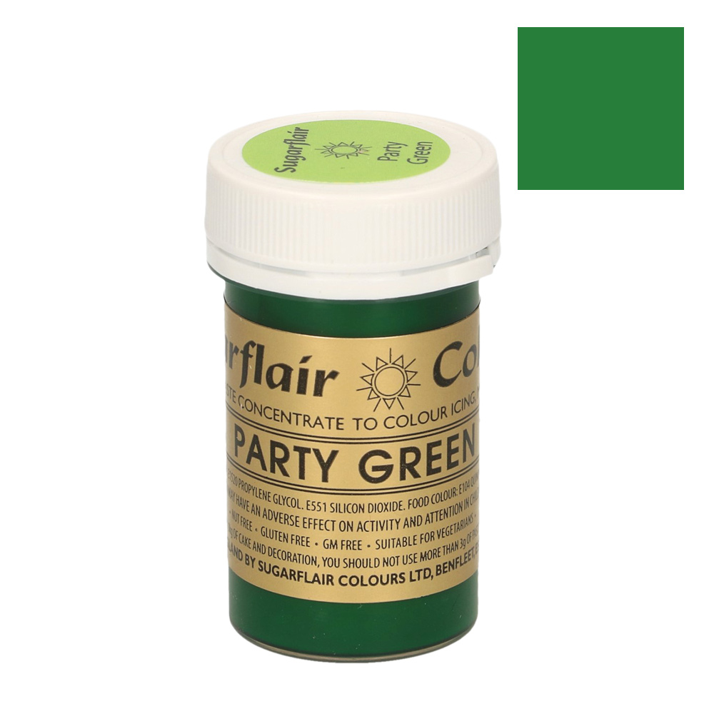 Colorante Sugarflair color Party Green