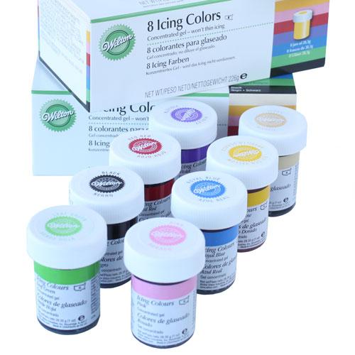 Kit de 8 colorantes en gel Wilton