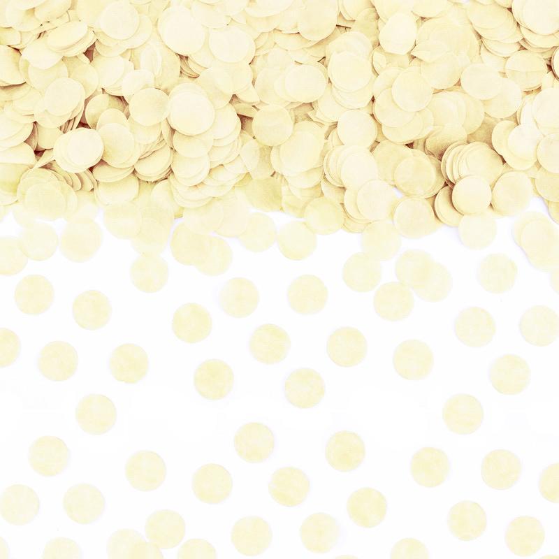 Confeti Círculo Amarillo Pastel 15 gr