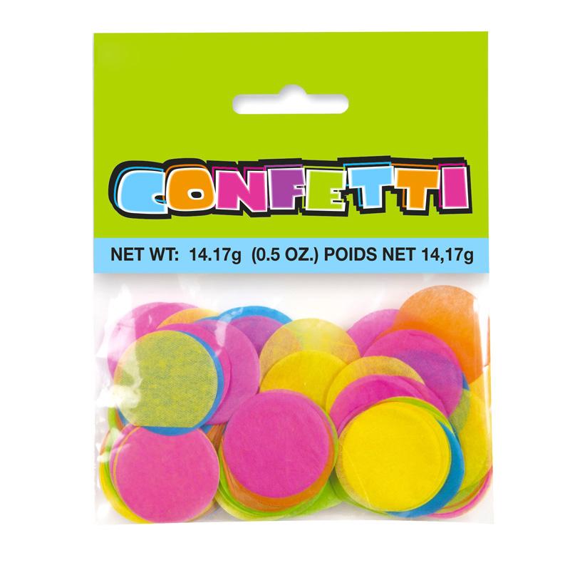 Confeti Círculos Grandes Multicolor