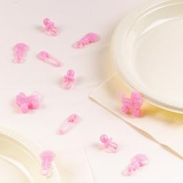 Confeti de mesa Bebé Rosa