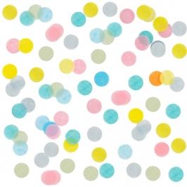 Confeti Círculos Pastel Multicolor