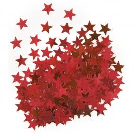 Confeti Estrellas Rojas