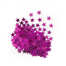 Confeti Estrellas Rosas