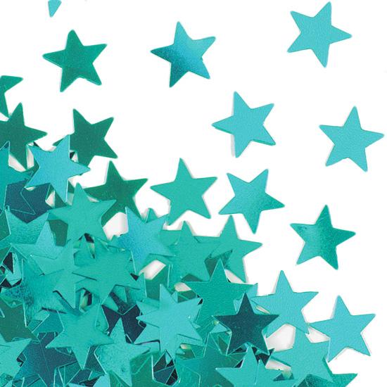 Confeti Estrellas Turquesas
