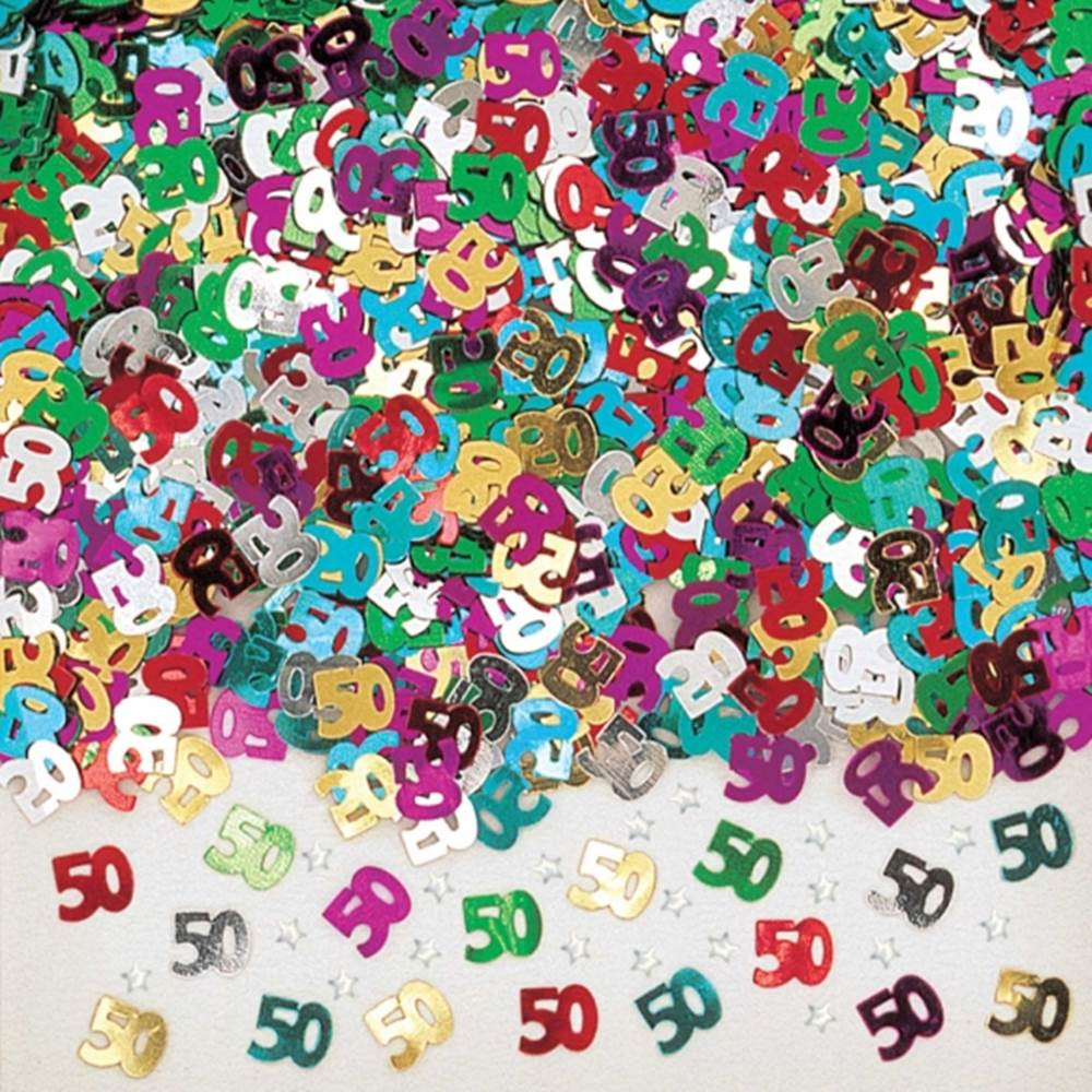 Confeti Metalizado 50 Años Multicolor
