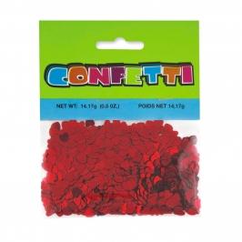 Confeti Metalizado Corazones Rojos