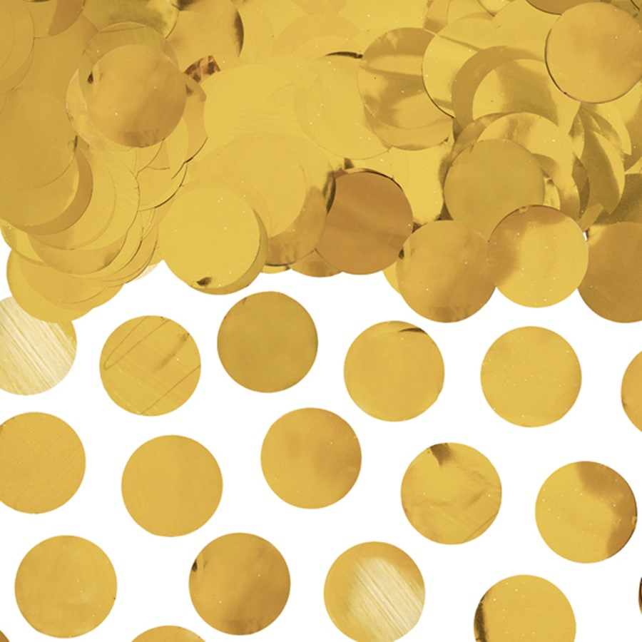 Confeti Círculos Dorados 15 gr