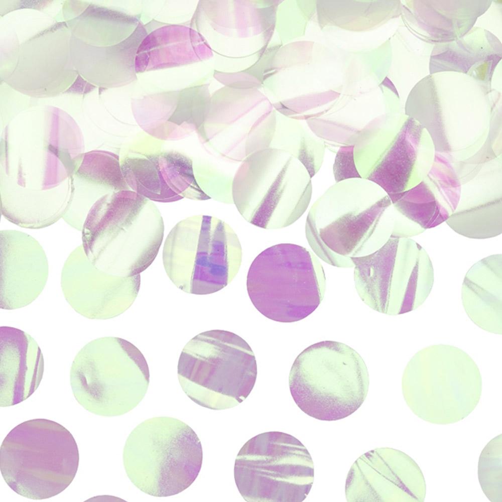 Confetti Círculos Iridiscente