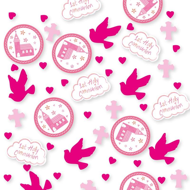 Confetti Comunión Iglesia Rosa