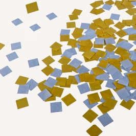 Confetti Cuadrados Color Kraft y Gris