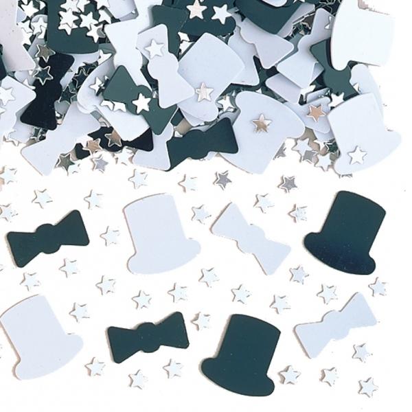 Confetti sombreros, pajaritas y estrellas