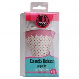 Set de 15 conos para dulces rosa
