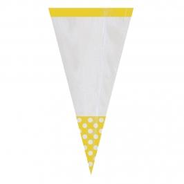 Conos para Dulces Amarillos y Blancos
