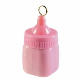 Contrapeso para globos biberón rosa