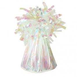 Contrapeso para globos de helio blanco iridiscente