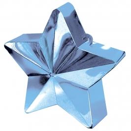 Contrapeso para globos estrella metalizada azul pastel