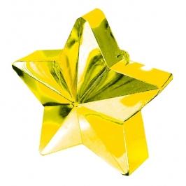 Contrapeso para globos estrella metalizada Dorada