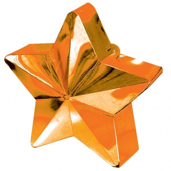 contrapeso para globos estrella naranja