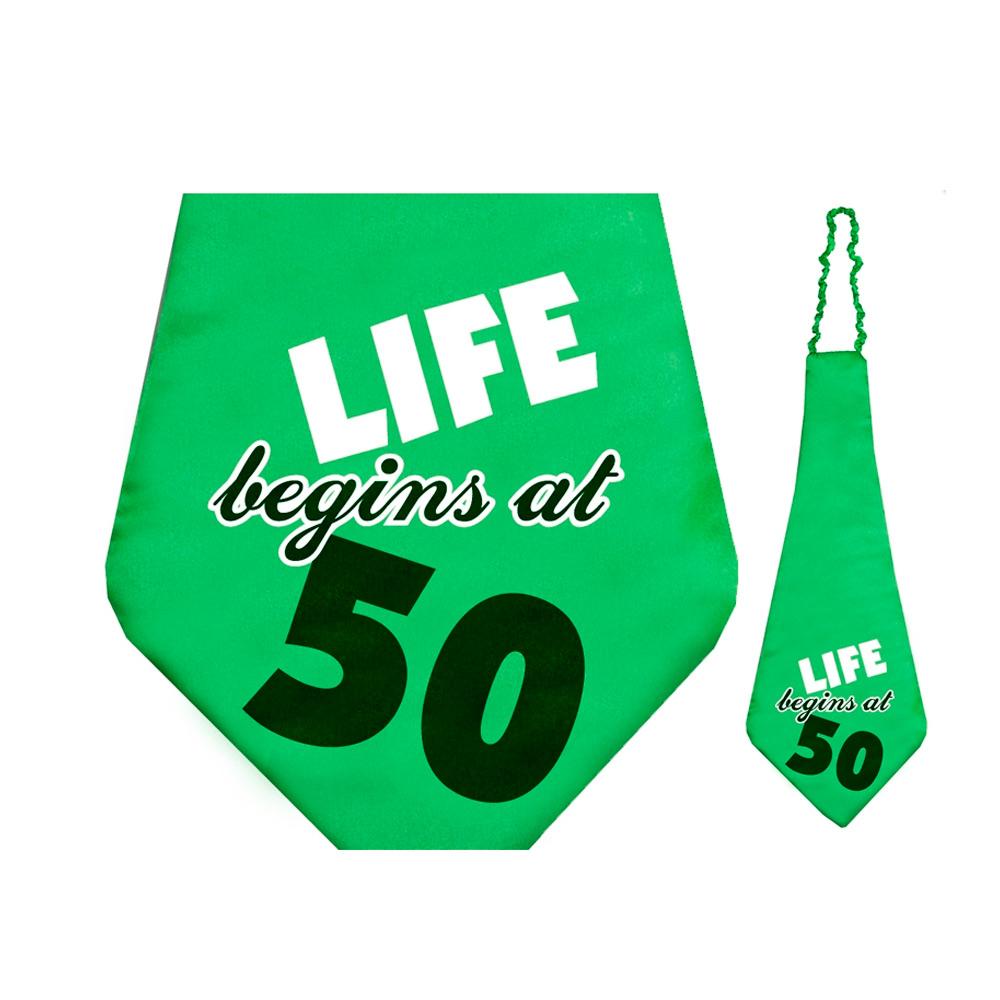 Corbata 50 cumpleaños 59 cm