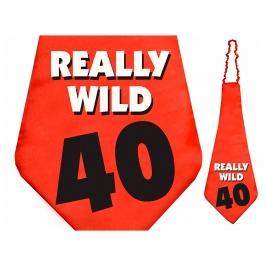 Corbata roja 40 cumpleaños