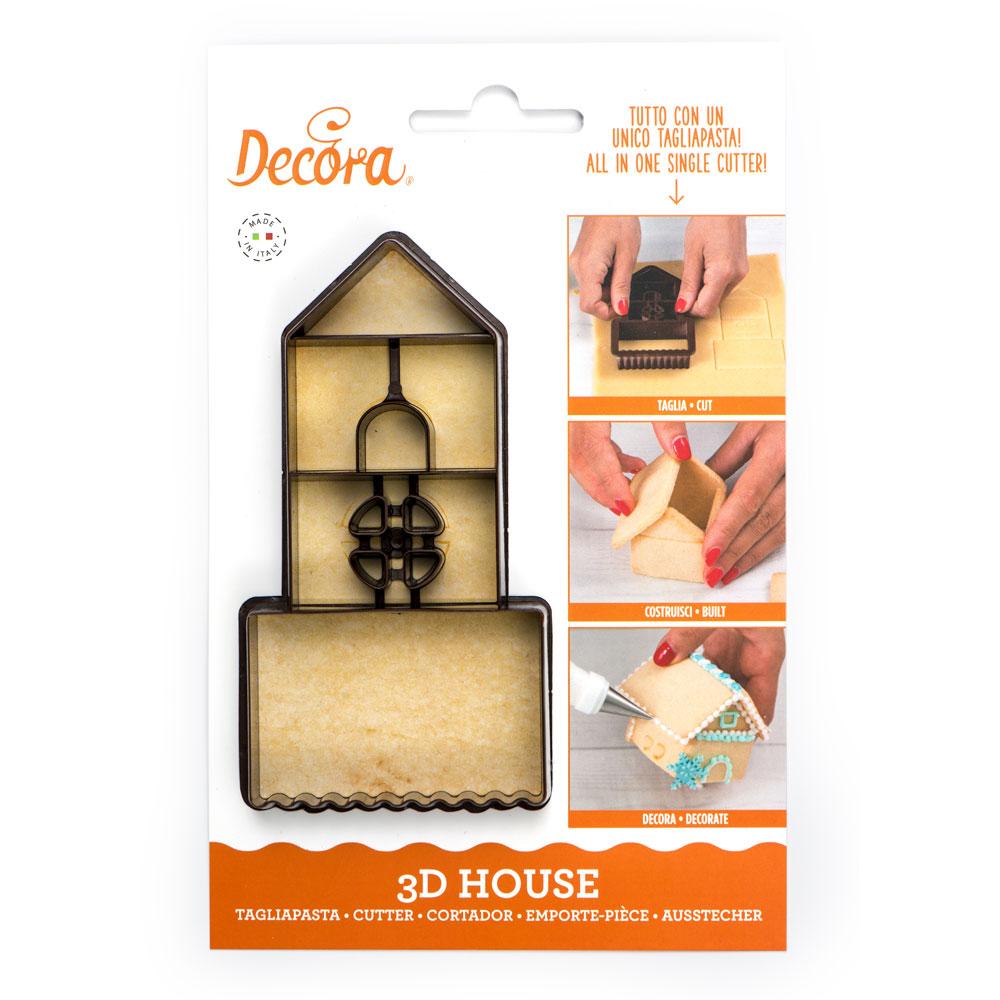 Cortador de Galletas Casa 3D