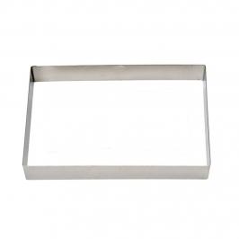 Cortador de galletas de acero con forma rectangular de 9 cm x 5 cm
