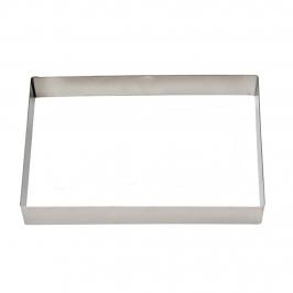Cortador de galletas de acero inoxidable rectangular