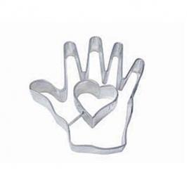 Cortador mano con corazón