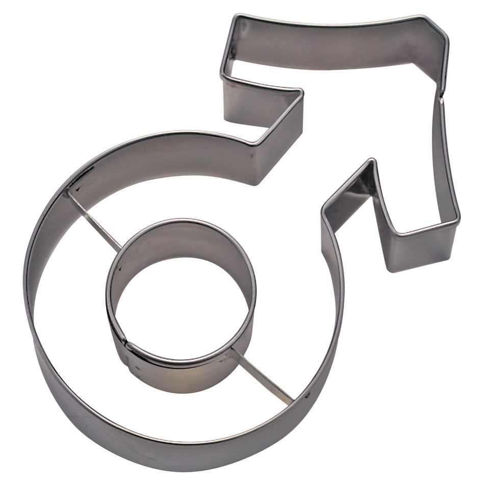 Cortador Símbolo Masculino 9cm