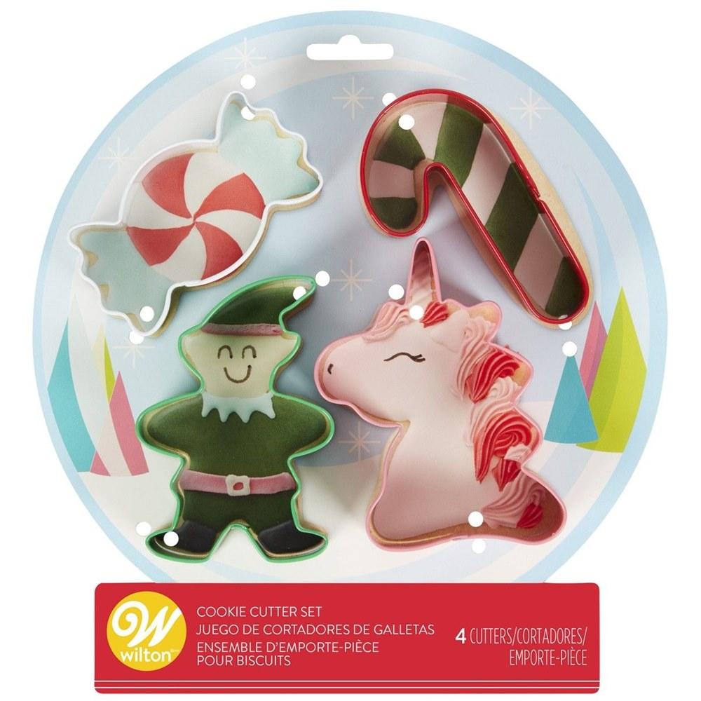 Cortadores de galletas Navidad 4 unidades
