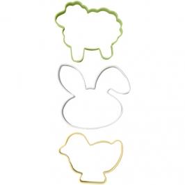 Cortadores para galletas Pascua y Primavera (3 uds)