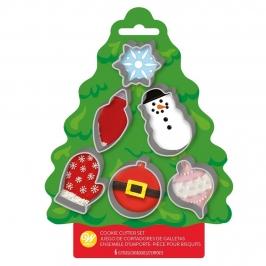 Cortadores de Galletas Navidad 6 ud