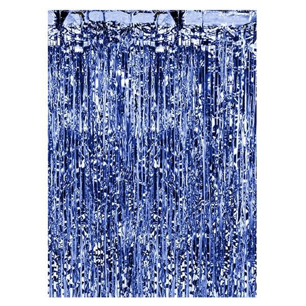 Cortina para Fiestas Azul Metalizado