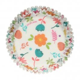 Cápsulas para Cupcakes Floral 48 Unidades