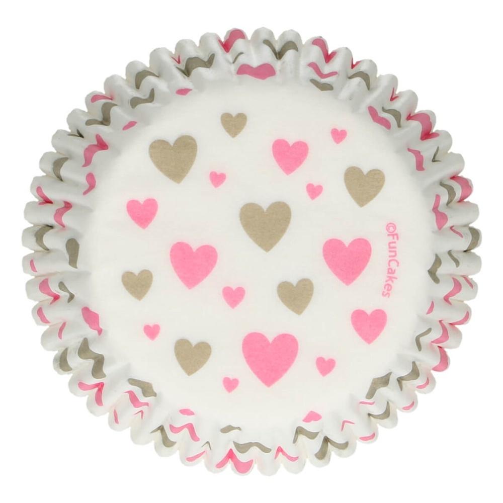 Cápsulas para Cupcakes Heart