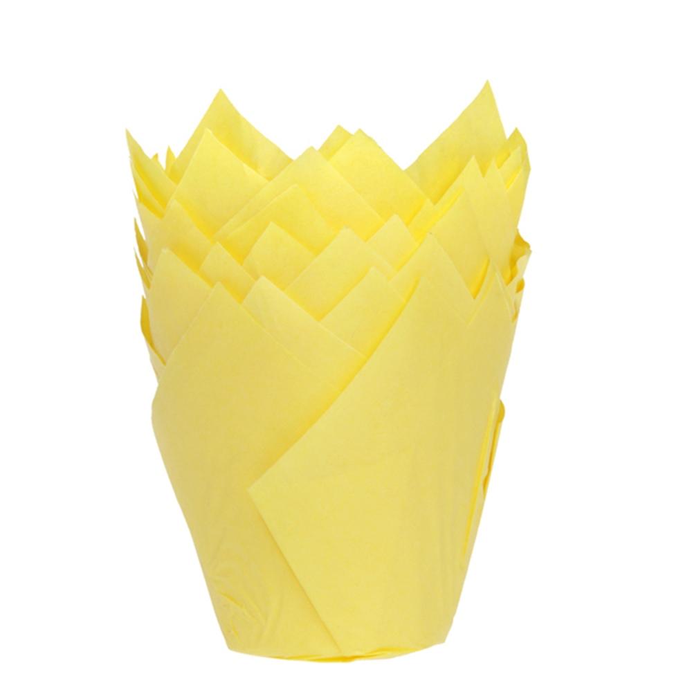 Cápsulas para Muffins color Amarillo 36 uds.