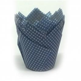 Cápsulas para Muffins Gingham Azul Marino