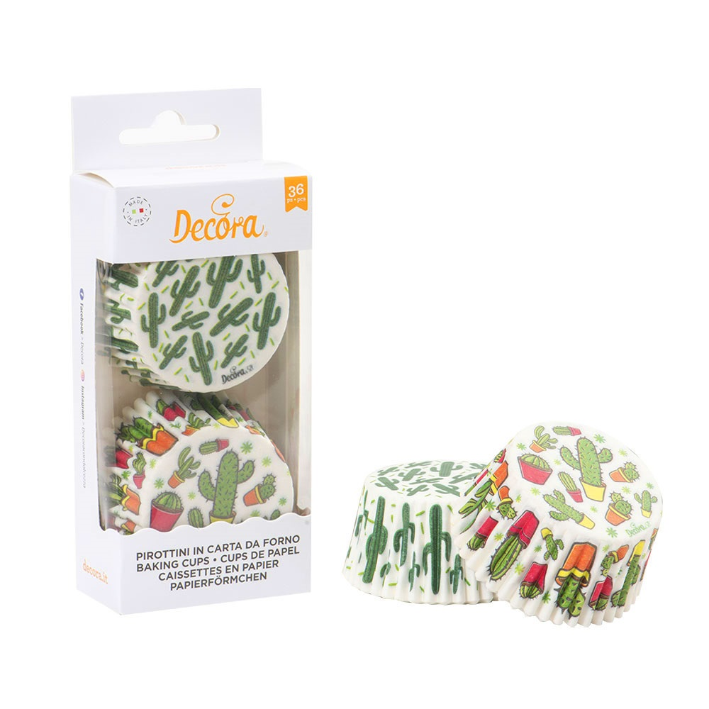 Cápsulas para Cupcakes Cactus 36 ud