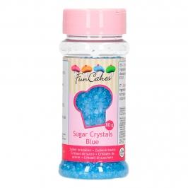 Cristales de azúcar azules
