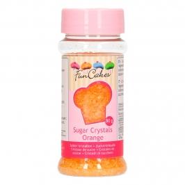 Cristales de azúcar naranjas